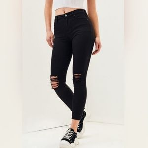 Pacsun High Rise Ankle Skinny Jeans Distressed